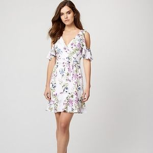 Le Chateau Floral Off Shoulder Wrap Dress